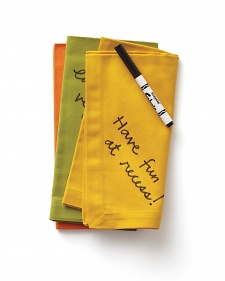 Fabric Marker Message Napkins